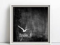 free, Kreide, Print / Poster 30x30cm