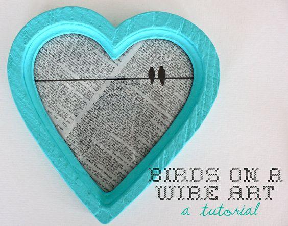 Sweet Verbena: Birds On A Wire Art