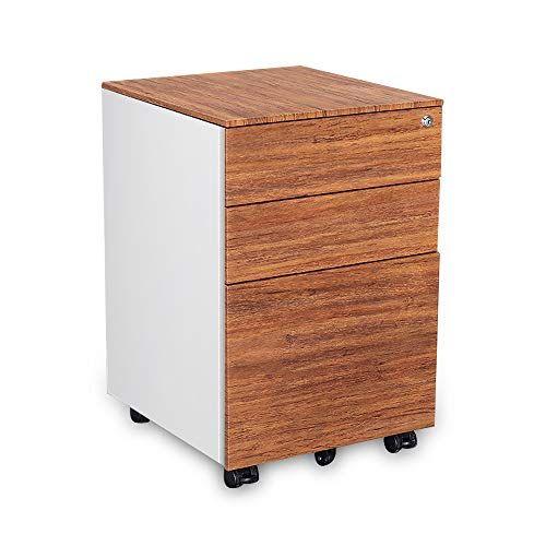 Kelligo 3 Drawer Steel Filing Cabinet Anti Tilt Imitate Wood Texture White Steel Filing Cabinet Wood Texture Filing Cabinet
