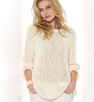 d0d6193b4fa Modèle de pull à tricoter pour femme gratuit - Laine et tricot