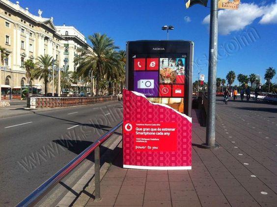 Mobiliario Urbano Espectacular | SP Integrales Fabricación de funda para publicidad en mobiliario urbano