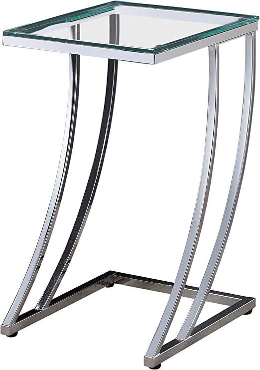 Coaster Everyday Rectangular Top Accent Table Tempered Glass Table Top Enhances Strength Of Piece Finish Clear Tempered Glass Table Top Accent Table Table Top