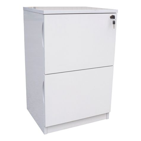 Product image for Forbes 2 Drawer White High Gloss Filing Cabinet ...