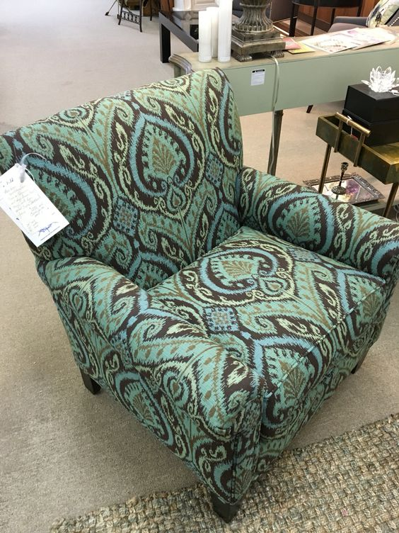 Arm chair in turquoise ikat fabric masterfield furniture for Masterfield furniture