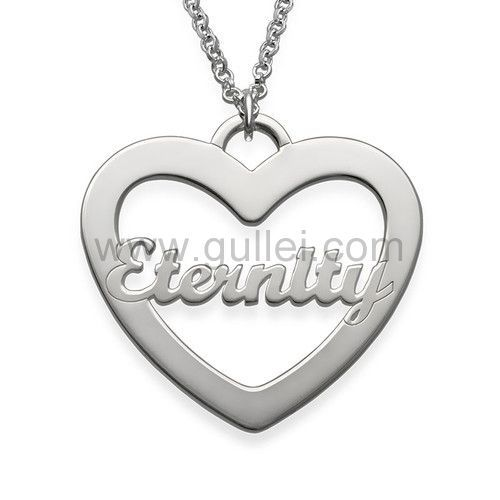 Heart Necklace with Scripted Name Personalized Name Necklace Custom for Lover Friend gift