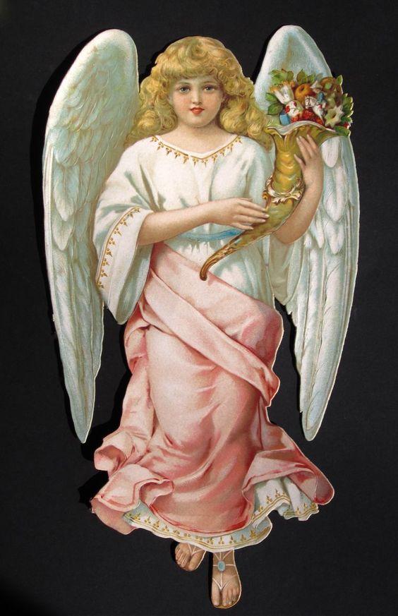 Large Angel with Cornucopia by L&B 2766