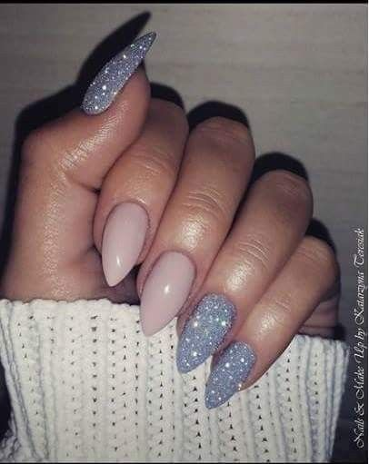 Acrylicnails Naildesign Longnails Pinknails With Images Glitter Gel Nails Long Almond Nails Almond Acrylic Nails
