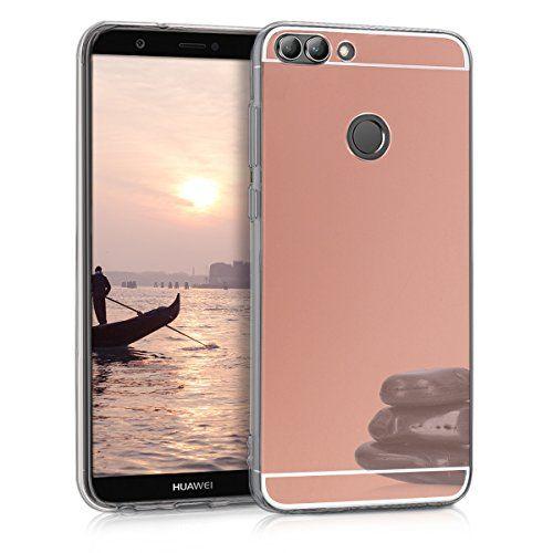 kwmobile Funda Compatible con Huawei Enjoy 7S // P Smart 2017 - Carcasa de TPU Silicona Protector Trasero en Gris Claro Mate