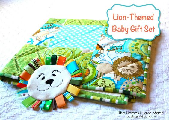 The Homes I Have Made: Lion-Themed Baby Gift Set