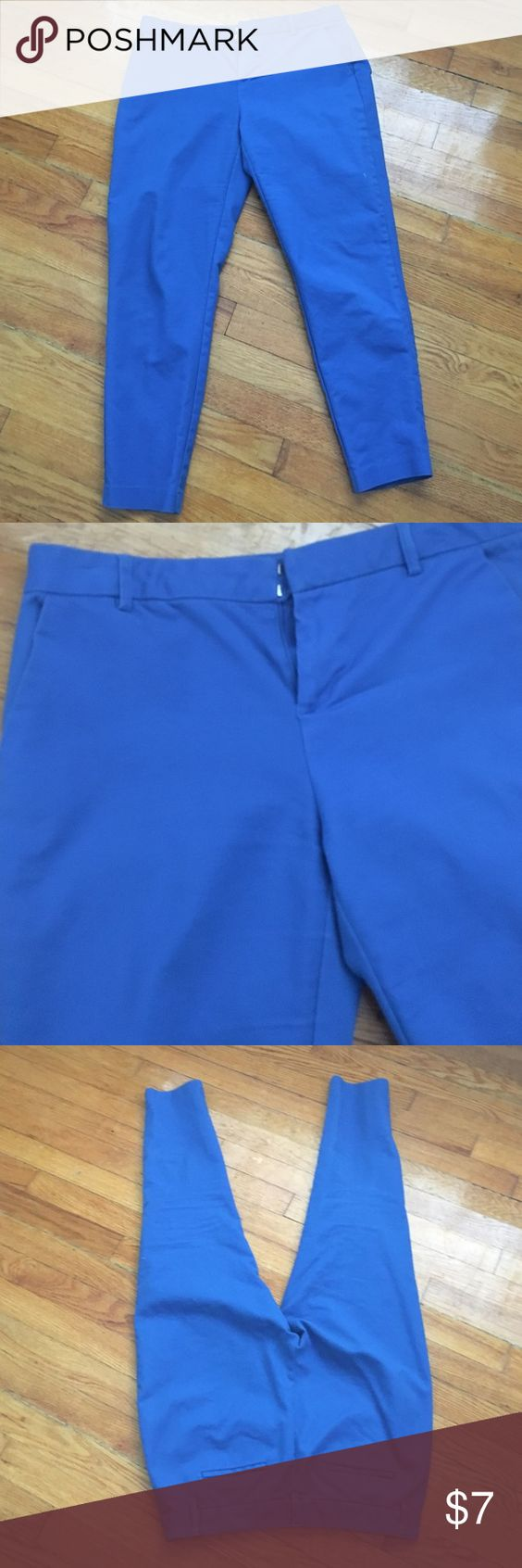 Blue Dress Pants Bright blue dress pants. Skinny ankle Forever 21 Pants Skinny
