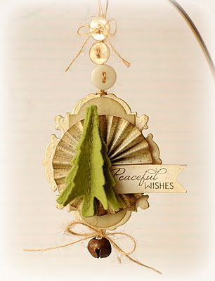 Handmade paper ornament. WOW.