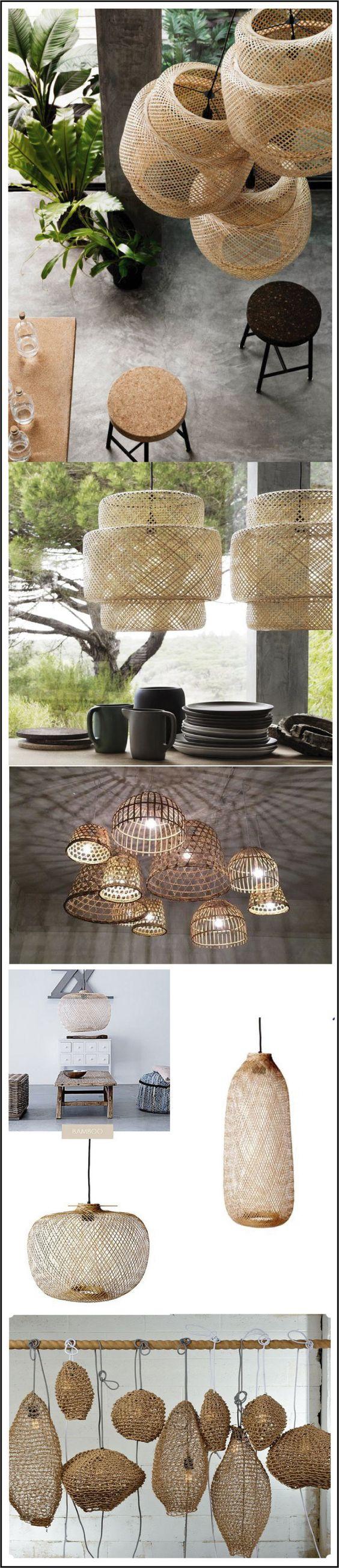 tendance rotin osier luminaires en rotin chiara stella home ting kj pe pinterest. Black Bedroom Furniture Sets. Home Design Ideas