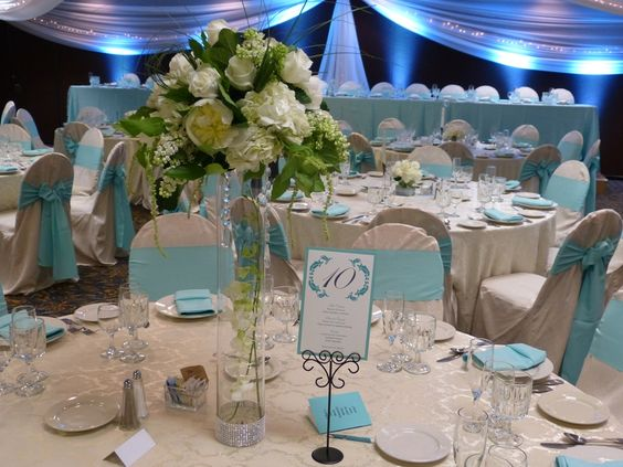Teal Platinum Package wedding - what a beautiful and elegant reception.