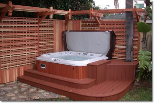 Built in spa deck tubbin 39 pinterest decks hot tubs for Hot tub designs and layouts