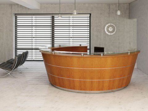 Premia 1 11 097 premia 1 curved reception desk modern for Modern office furniture suppliers