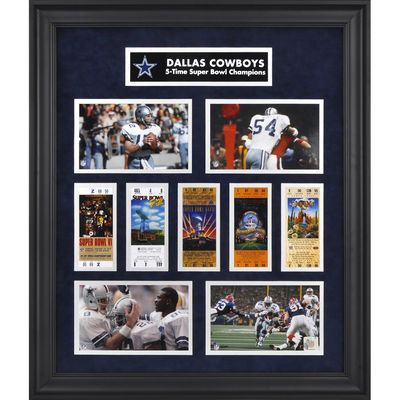 Dallas Cowboys Fanatics Authentic Framed Super Bowl Ticket Collage-Limited Edition of 1000 - $149.99