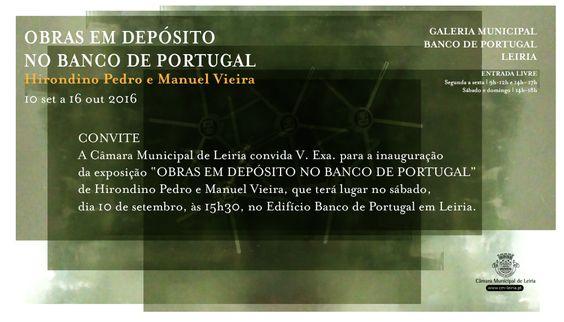 Convite para exposição no Banco de Portugal, Leiria by Fausto Vicente