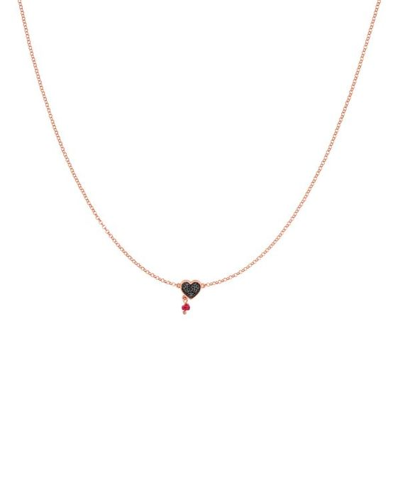 """Tous Spinel & Ruby Necklace, 17.7"""""""