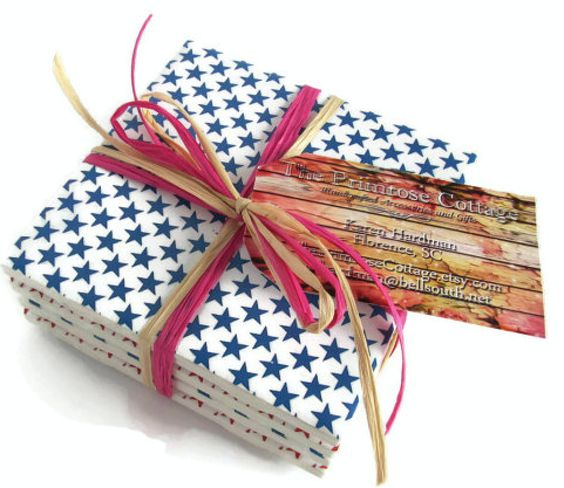 Ceramic Star Spangled Coasters