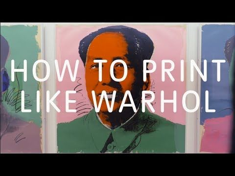 Watch This Video On How Artist Andy Warhol Made His Colourful And