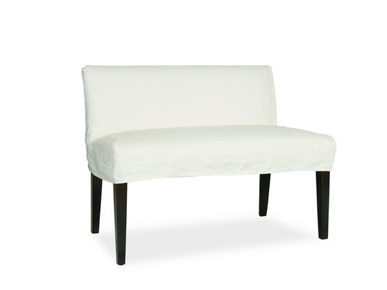 Lee Industries Dining Room Slipcovered Dual Seat Dining Bench C7000 56   Kathy  Adams Furniture