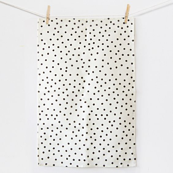 tea towel   dots.