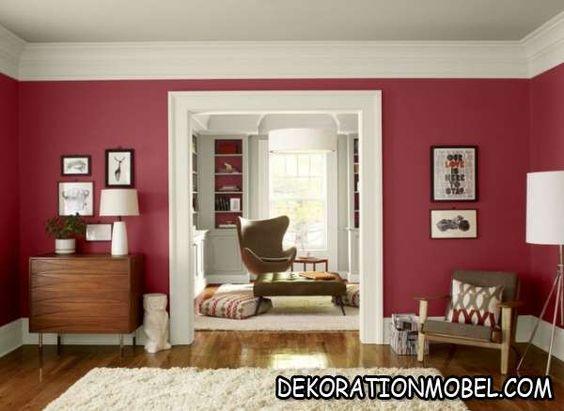 Wohnzimmer grau gelb wandfarbe auswählen kombinieren ideen 2611