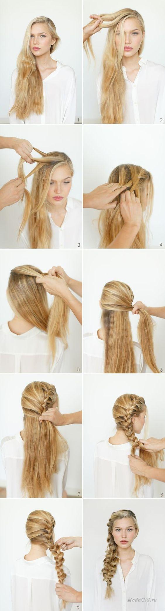 Модные причёски уроки видео