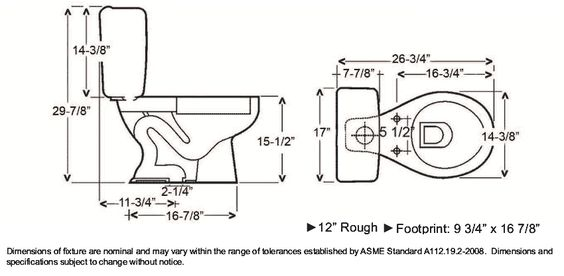 Toilet Dimensions Google Search Dimensions Pinterest Toilets And Search