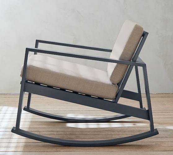 Indio Metal Rocking Lounge Chair Slate Metal Rocking Chair Metal Furniture Design Metal Chairs