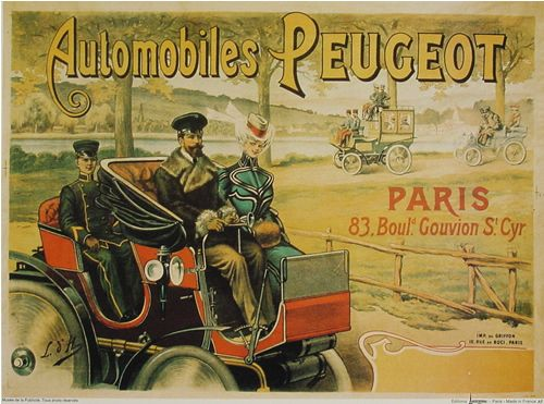 affiches anciennes velos voitures posters pinterest automobile et peugeot. Black Bedroom Furniture Sets. Home Design Ideas