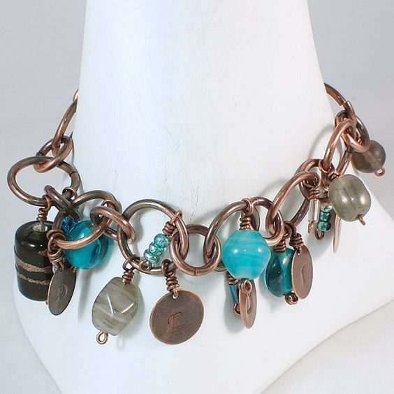 Charm Bracelet Inspiration Bracelet Word by kellymaekreations, $38.00