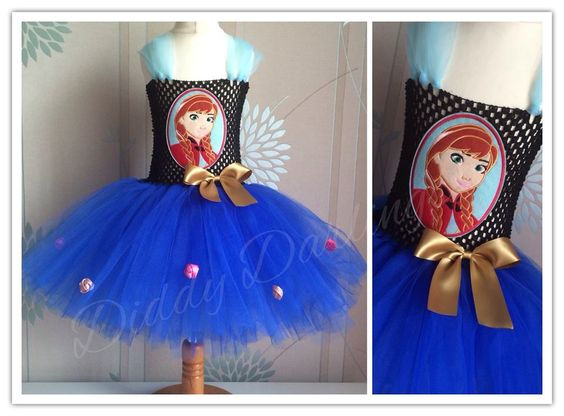 Anna Face Patch Tutu Dress.   Frozen Tutu Dress. Anna Tutu Dress. Beautiful & lovingly handmade.   Price varies on size, starting from £25.  Please message us for more info.   Find us on Facebook www.facebook.com/DiddyDarlings1 or our website www.diddydarlings.co.uk