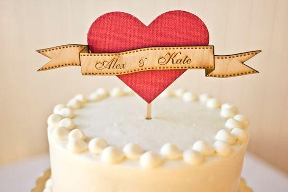 lovely custom cake topper from #etsy