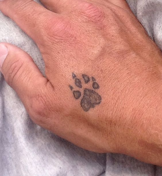 my dog paw tattoo with nail missing same as jess's paw