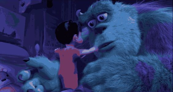 Best Disney hugs | And when Sulley and Boo give each other a good-bye hug.