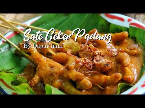 Menu Populer Sate Ceker Padang Youtube Ayam Dapur Merica