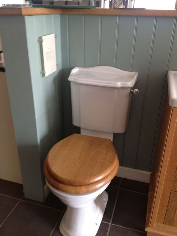 Downstairs Toilet Traditional Styles And Blue Grey On