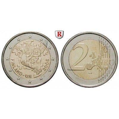 Finnland, Republik, 2 Euro 2005, bfr.: 2 Euro 2005. 50 Jahre UN-Mitgliedschaft. bankfrisch 5,00€ #coins
