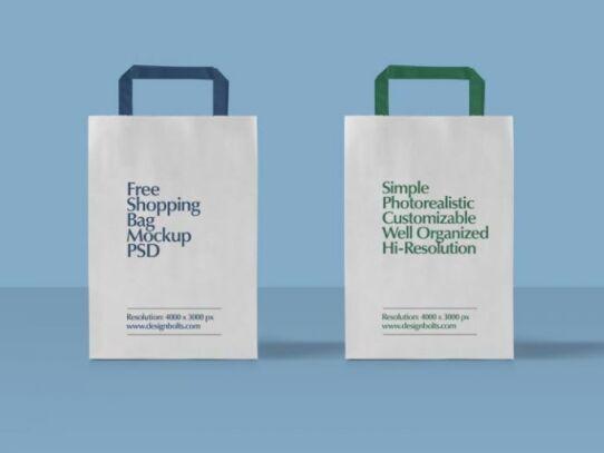 Download Free Paper Shopping Bag Mockup Psd Design Mockup Free Paper Bag Design Bag Mockup
