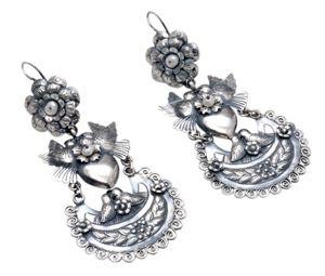 Aretes de Plata Mexicana con Perlas