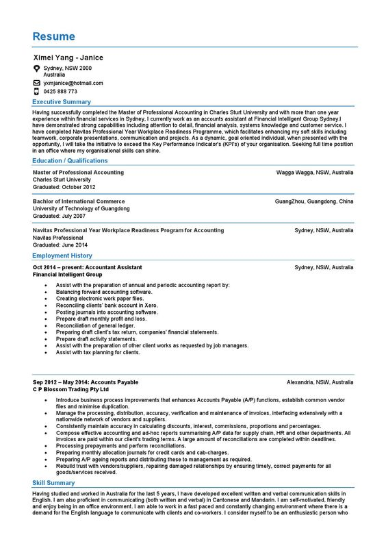 Enterprise Project Management Resume Resume Pinterest - chartered accountant resume