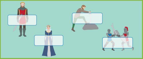 King Arthur Self-Registration Labels | Free EYFS / KS1 Resources for Teachers