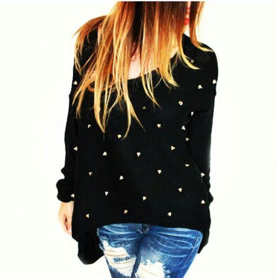 Sweater c/ tachas