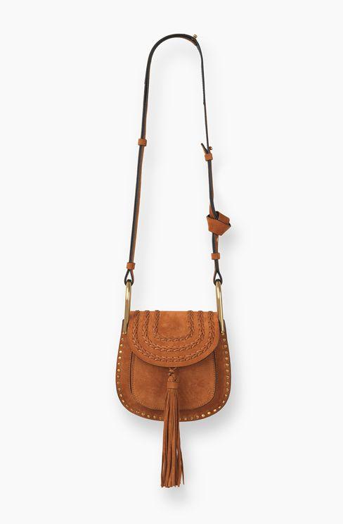 faux chloe bags - CHLOE MINI HUDSON BAG IN SUEDE CALFSKIN WITH TASSEL 3S1220-H67-BDU ...