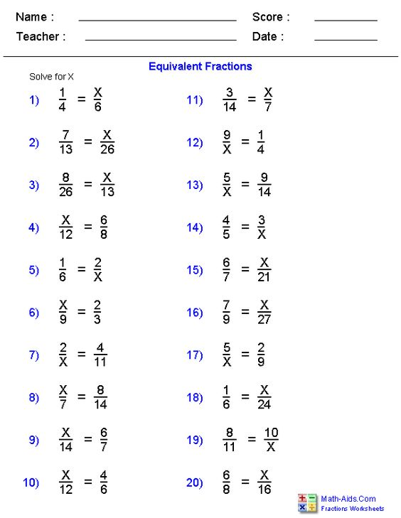 Equivalent fractions worksheets 3rd grade
