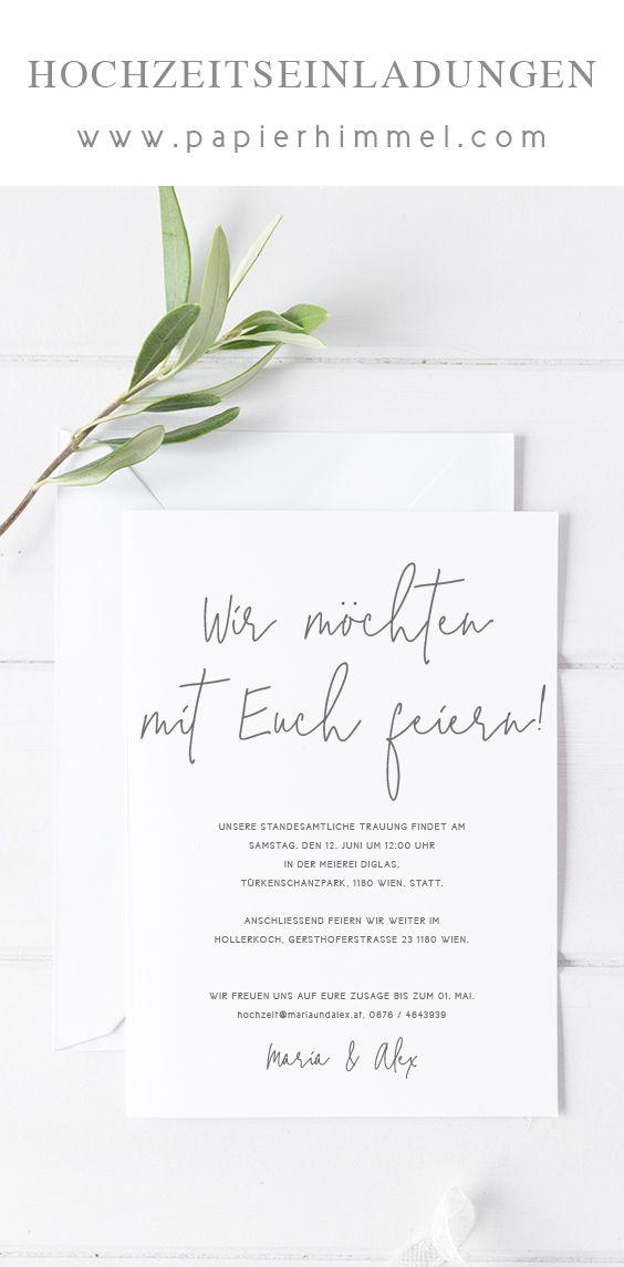Hochzeitseinladung Minimalistisch Modern Hochzeitseinladung Karte Hochzeit Hochzeitseinladungen Diy