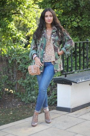 Urban Outfitters coat - Topshop jeans - studded spiked Lavand Boutique bag