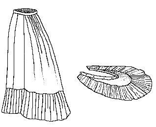 1879 Trauerkleid Natural Form