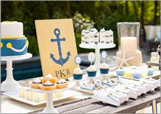 Anchors Away Baby Shower @The TomKat Studio: Shower Ideas, Nautical Shower, Baby Shower Themes, Nautical Party, Nautical Baby Showers, Nautical Theme, Baby Boy, Party Ideas